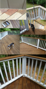 Deck Stain Progress