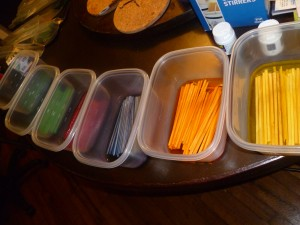 Dyeing Stir Sticks